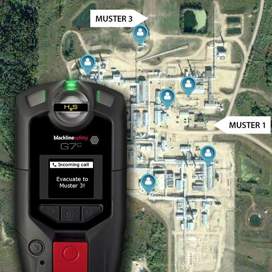 Les dispositifs de surveillance connectésBlackline Safety comprennent la détection de gaz