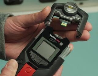 remplacement de la cartouche du détecteur de gaz